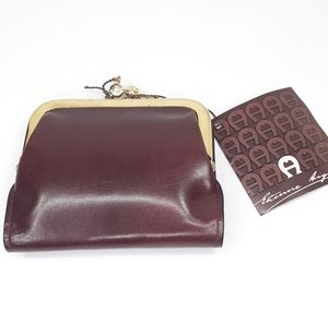 NWT Etienne Aigner Leather Wallet Coin Purse